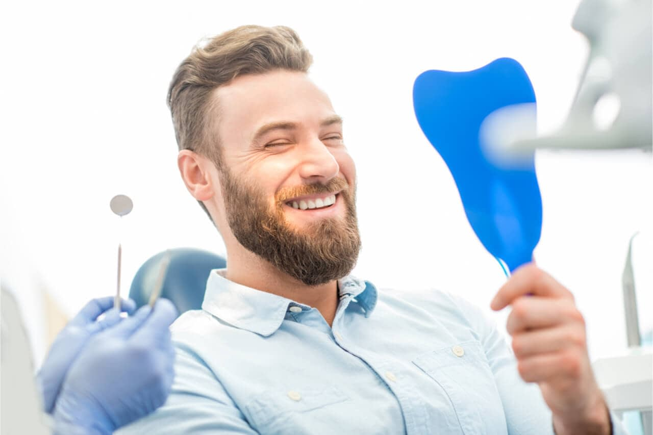 The man has a successful treatment for gum recession.
