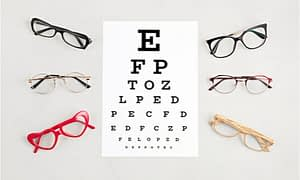 An eye exam to test your vision.