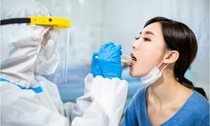 The doctor will do the throat swab test.