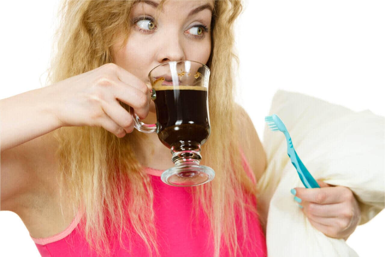 Does coffee stain your teeth? Yes! So go and brush your teeth now.