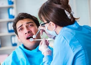 anxious dental patient